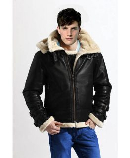 WW2 Flight Bomber Fully Fur Lined Genuine Sheepskin Leather Jacket