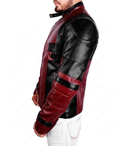 Deadpool Maroon and Black Jacket