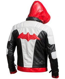 Bat Logo Knight Red Hood Jacket with Vest