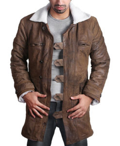 Bane Coat Real Leather Style Jacket Tom Hardy The Dark Knight Rises