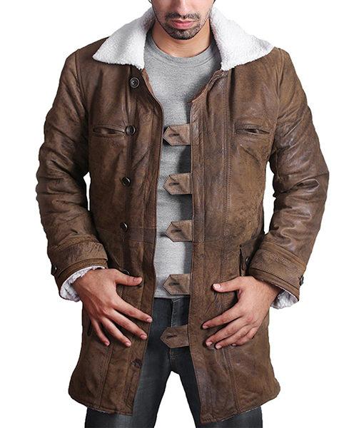 Bane Coat Real Leather Style Jacket Tom Hardy The Dark Knight Rises