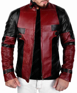 Deadpool Maroon and Black Jacket
