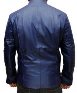Blue Superman Man of Steel Leather Jacket