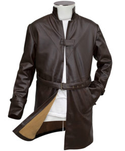 Brown Leather WD Trench Coat
