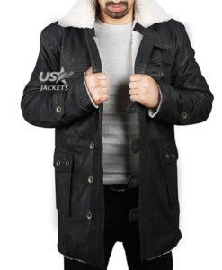 Bane Coat Tom Hardy Dark Knight Rises Vintage Distressed Look Leather Jacket Black