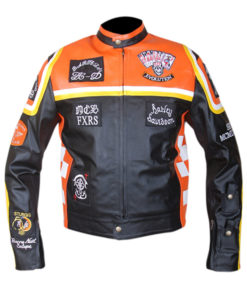 Harley Davidson and Marlboro Man Leather Motorcycle Jacket