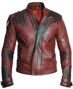 Guardians of The Galaxy Vol. 2 Star Lord Chris Pratt Real Leather Jacket