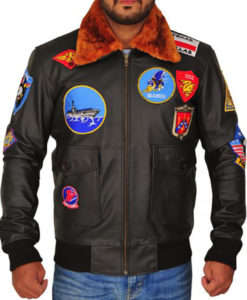 Men's Top Gun Pete Maverick Tom Cruise Flight Bomber Jacket