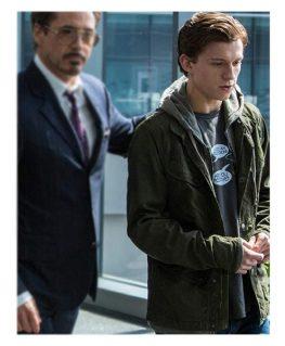 Spider Man Homecoming Tom Holland Green Jacket