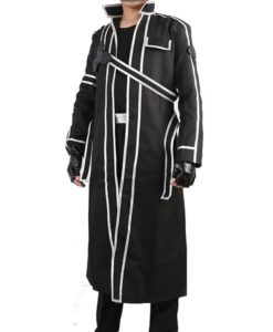 Sword Art Online Kirito Replica Cosplay Trench Leather Costume