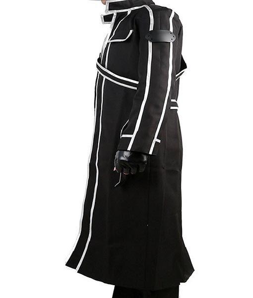 Sword Art Online Kirito Replica Cosplay Trench Leather Costume
