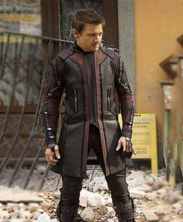 Avengers Endgame Ultron Hawkeye Trench Coat
