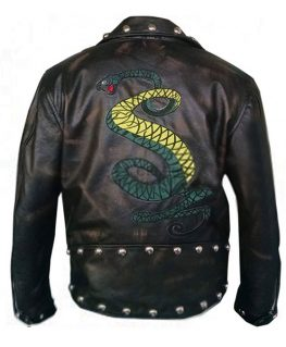 Fallout 3 Tunnel Snakes Rule Distressed Leather Jacket