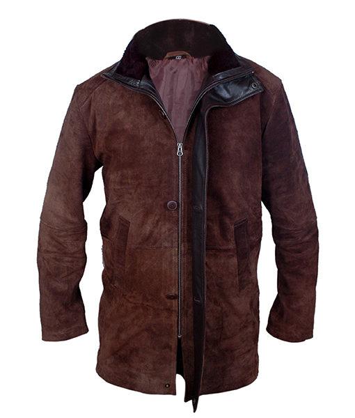 Brown Suede Leather Sheriff Walt Longmire Coat