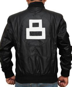 Black David Puddy 8 Ball Jacket For Sale - Patrick Warburton Jacket