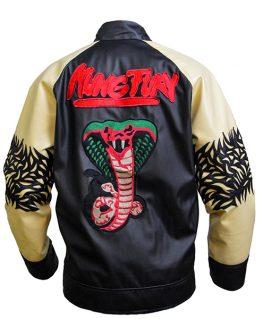 Kung Fury Jacket - David Hasselholf Cobra Leather Jacket