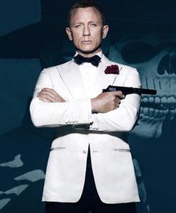 Spectre Daniel Craig White Wool Blend Tuxedo