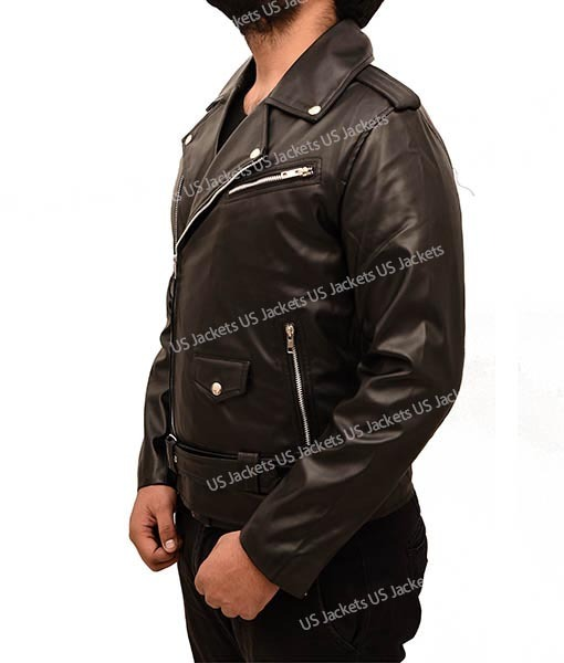 Riverdale Cole Sprouse Black Leather Jacket