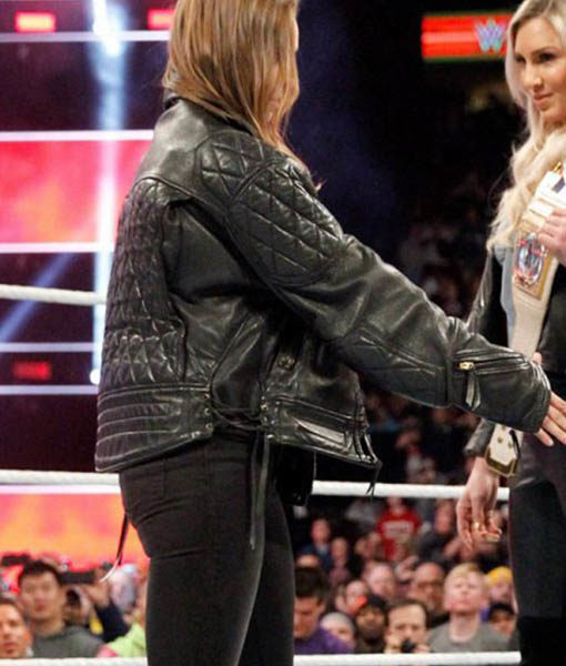 WWE Ronda Rousey Bomber Leather Jacket