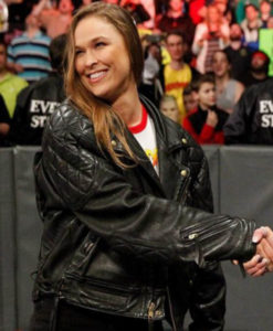 WWE Ronda Rousey Bomber Leather Jacket