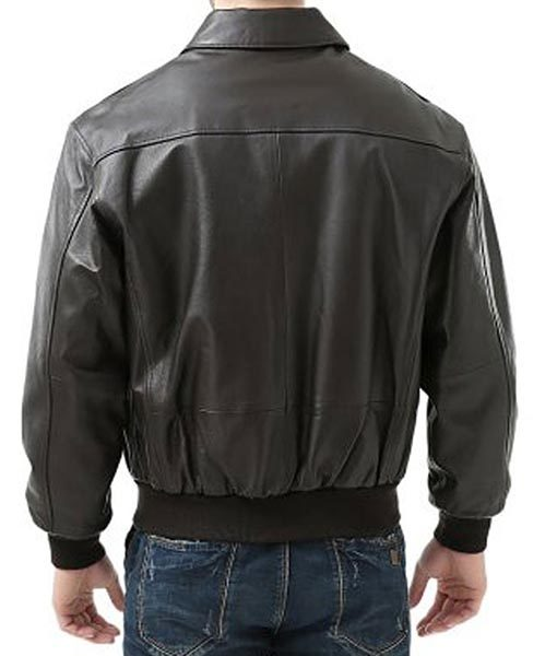 USAF A2 Flight Bomber Black Leather Jacket
