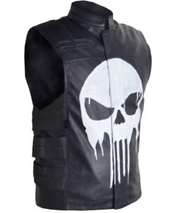 The Punisher Frank Castle Leather Vest