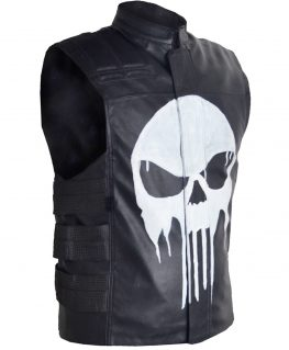 The Punisher Frank Castle Leather Vest