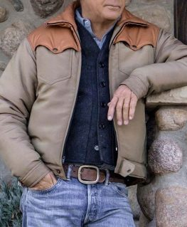 Yellowstone Kevin Costner Brown Jacket