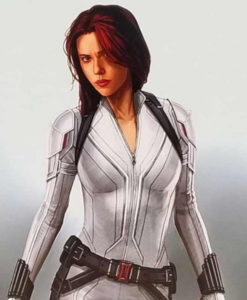Black Widow White Leather Jacket