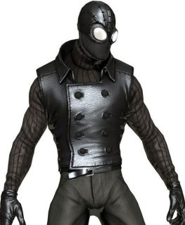 Spiderman Noir Costume Black Vest front