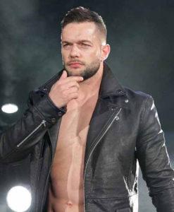 WWE Finn Balor Leather Jacket front