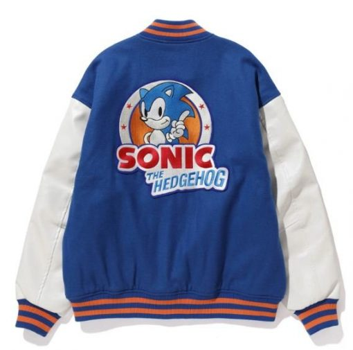Sonic Hedgehog Jacket | Varsity Style Jacket