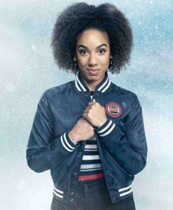 Doctor Who Pearl Mackie Varsity Jacket