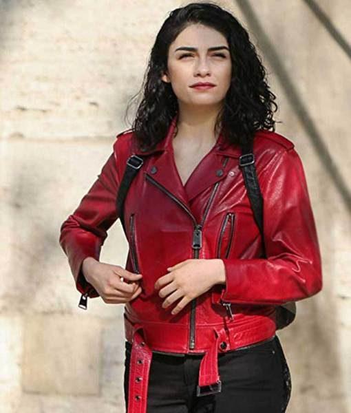 The Protector Zeynep Erman Red Jacket