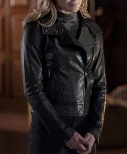 Arrow Season 08 Caity Lotz Leather Jacket