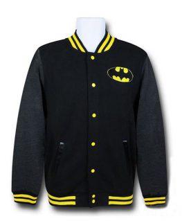Batman Black Classic Logo Varsity jacket