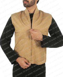 Yellowstone Luke Grimes Cotton Vest | Kayce Dutton Brown Vest