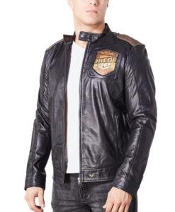 Mens Judge Dredd Black Leather Jacket