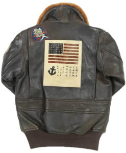 Top Gun Womens Brown Leather Jacket