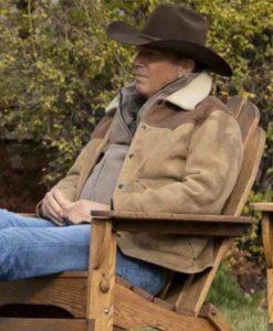 Yellowstone John Dutton Shearling Jacket