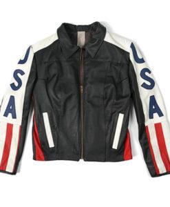 American Flag Selena Gomez Jacket