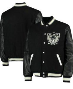 Raiders Black Varsity Jacket