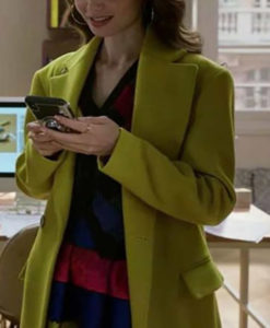 Emily In Paris Emily Cooper Green Coat