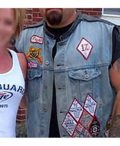 Biker Pagan Denim Vest