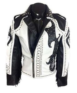 Tribal Rock Punk Gothic Fringe Jacket
