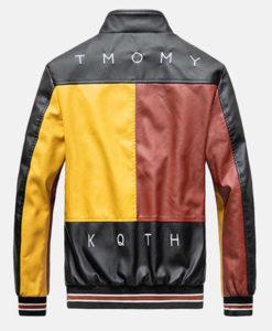 Men's Block Leather Jacket