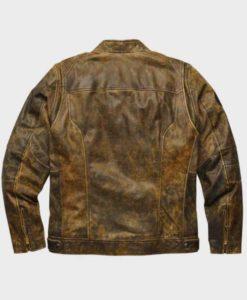 Mens Distressed Brown Vintage Leather Jacket