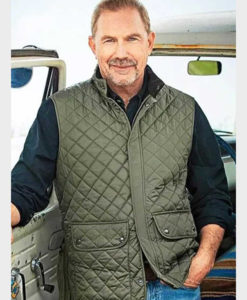 Yellowstone John Dutton Green Quilted Vest
