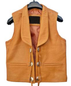 Lorne Greene Brown Leather Vest
