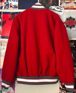Men's Varsity UNLV Red Wool Bomber Jacket